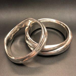Sterling silver bracelets.